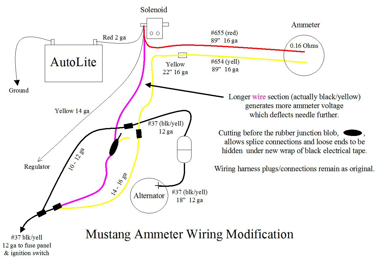 Amp meter wiring diagram 1966 mustang wiring diagram ford ammeters testing and making them useful ford mustang forum rh allfordmustangs com 1966 mustang wiring diagram manual 1966 mustang alternator wiring swarovskicordoba Images