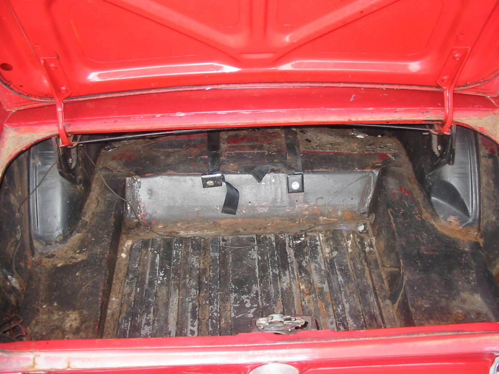 1968 Mustang Fastback  Fuel Wire Through Hole Location