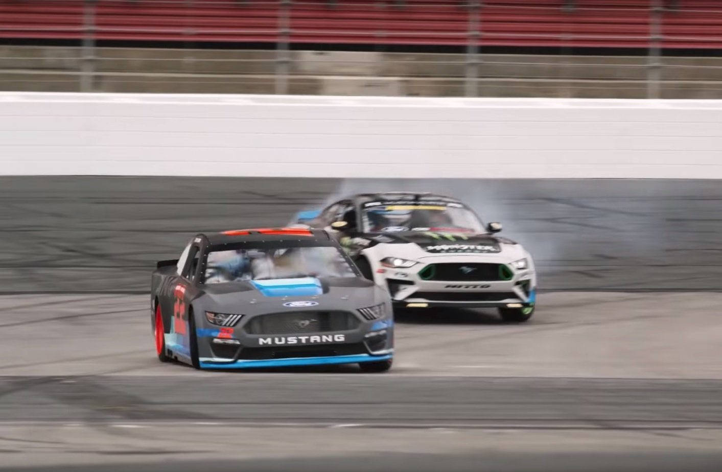 Watch: Vaughn Gittin Jr. Welcomes Joey Logan to Mustang in Style