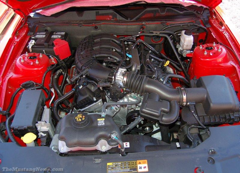 engine dress mustang updated v6 ford jul