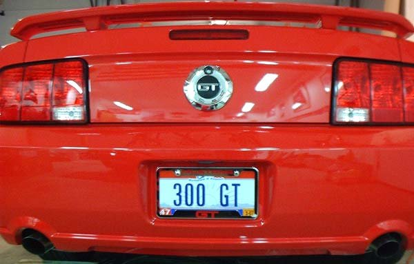click image for larger version name mustang framejpg views 4173 size - Mustang License Plate Frames