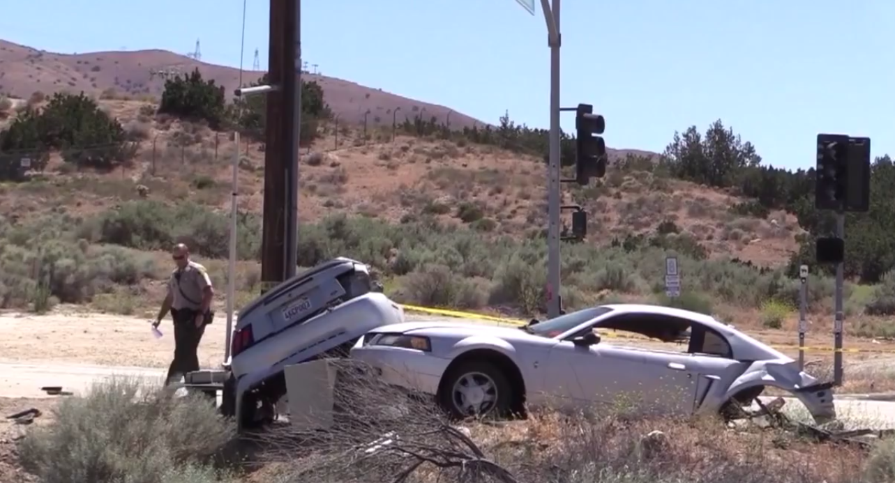 Mustang Split in Half After Alleged Street Race