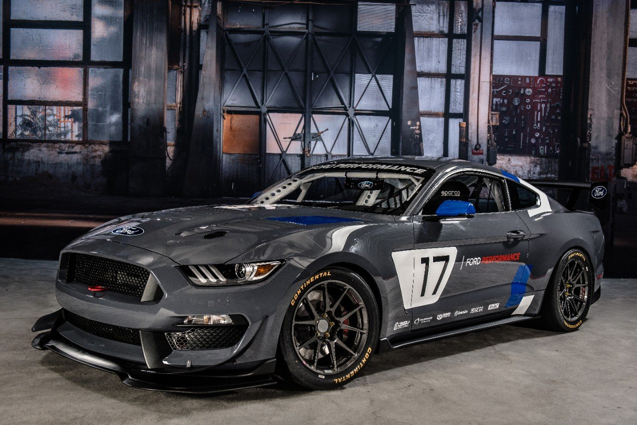 Mustang GT4 Debuts With 5.2L V8, Flat Plane Crank Missing