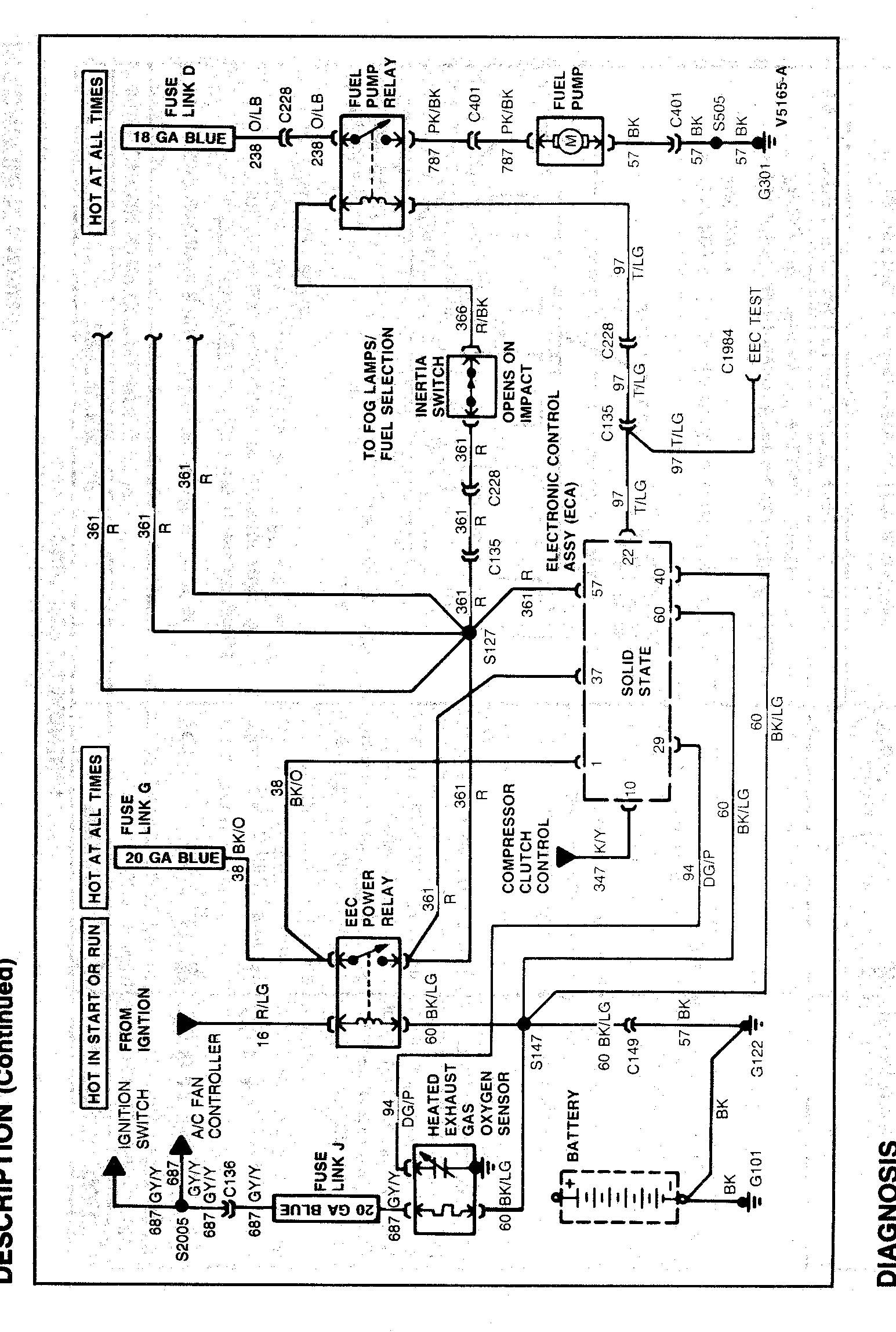 2001 Ford Taurus Fuel Pump Wiring Diagram Wiring Diagram