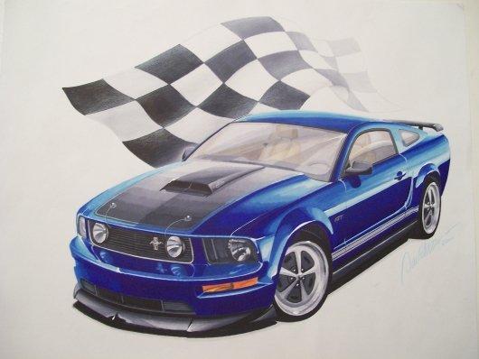 Here It Is My Drawing Of Myltlpny S Award Winning 05 Gt Ford