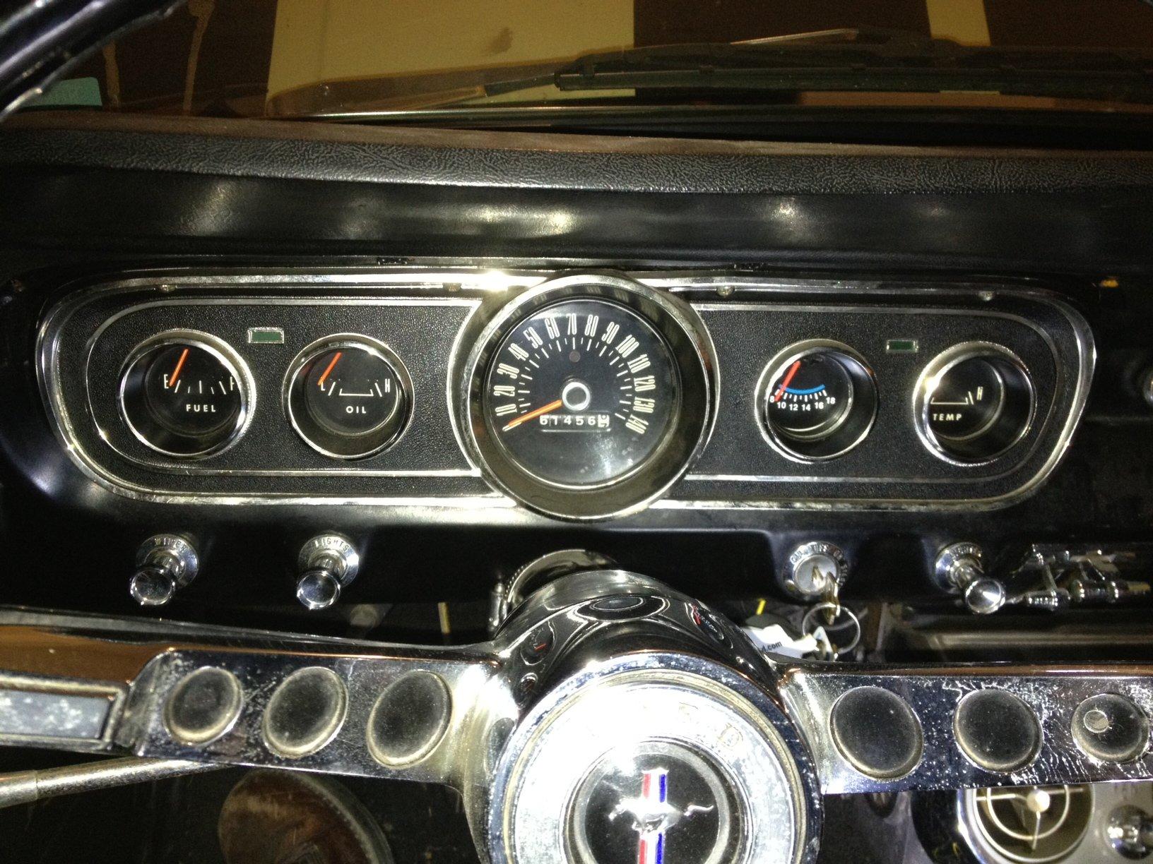 Voltmeter Swap In My 66 Cluster Ford Mustang Forum