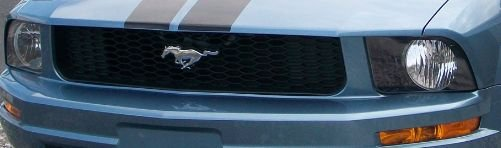 2007 Mustang V6 Coupe Front Grill Replace With Halo Fog