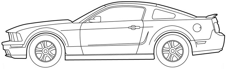 S197 Mustang Paint Template Ford Mustang Forum