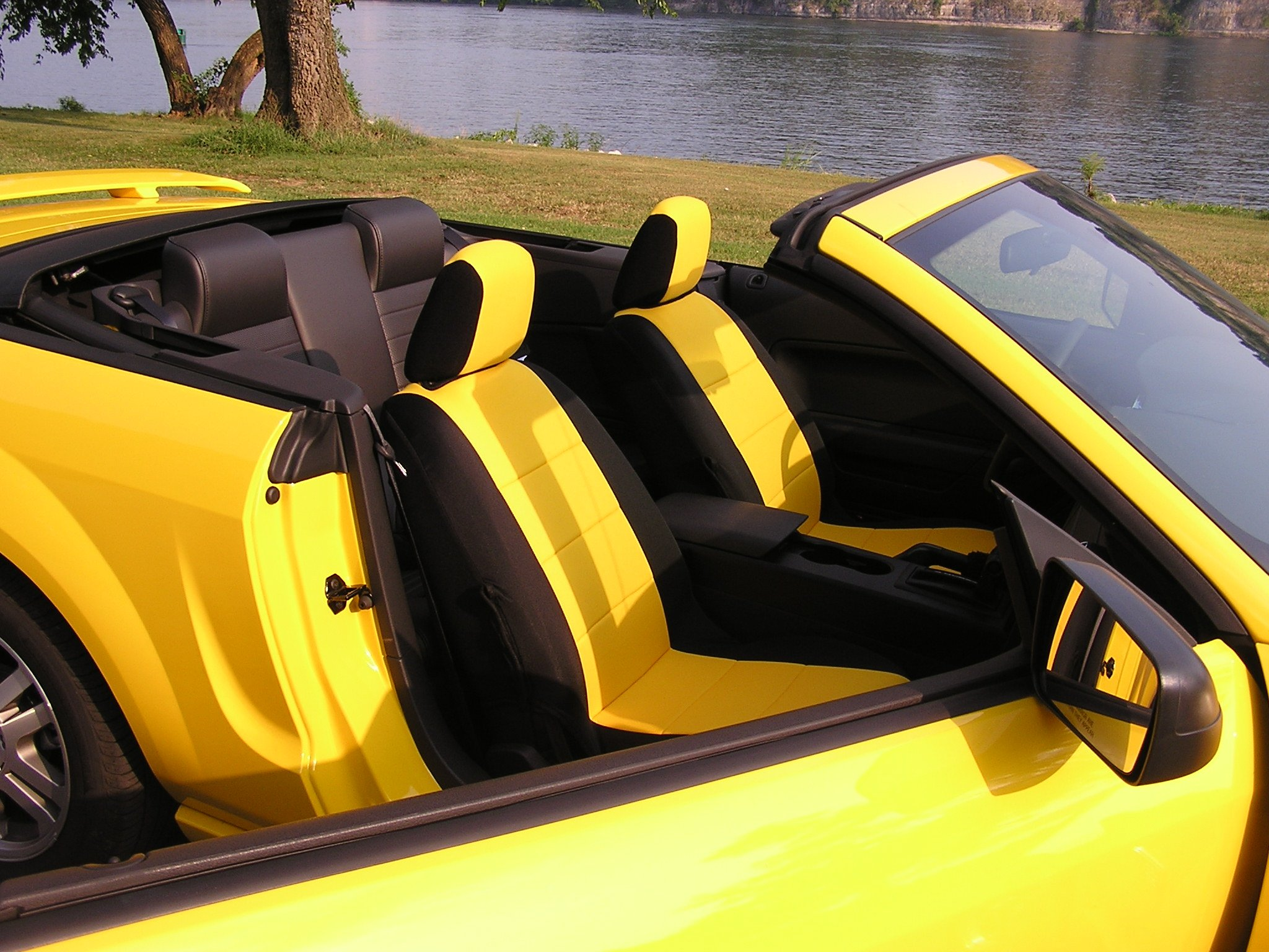 Mustang Seat Covers >> Seatcovers that match Screaming Yellow - Ford Mustang Forum
