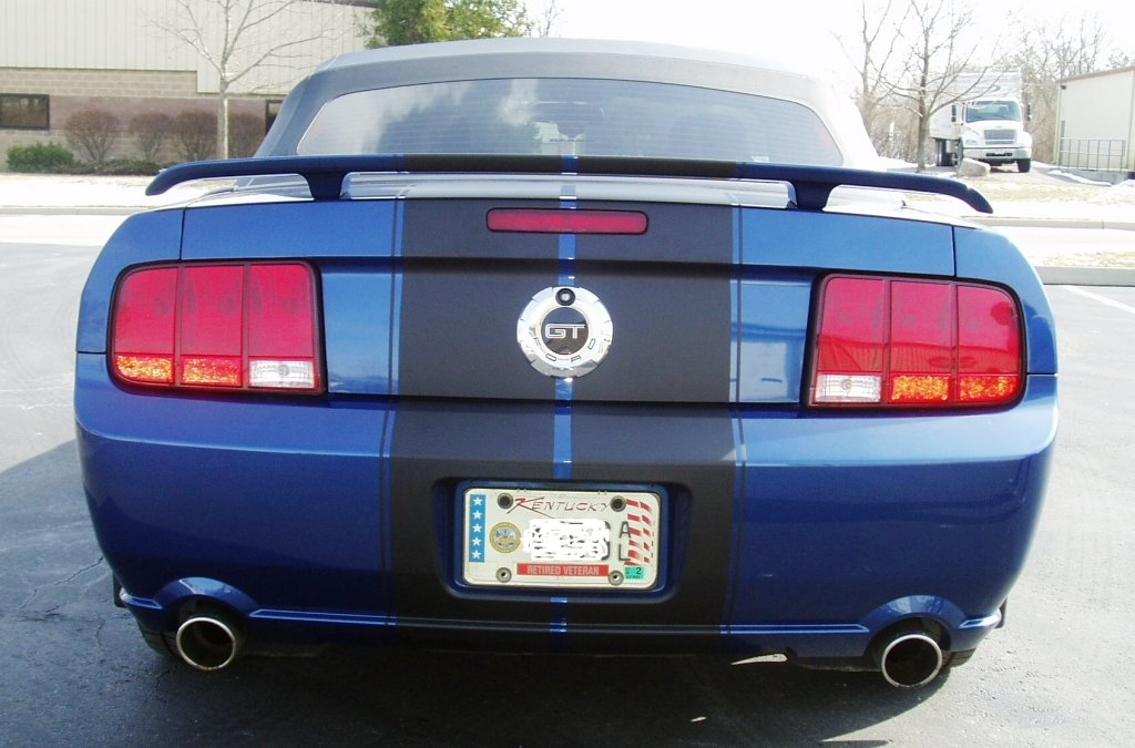 Thinking about black stripe on vista blue mustang  Ford Mustang Forum