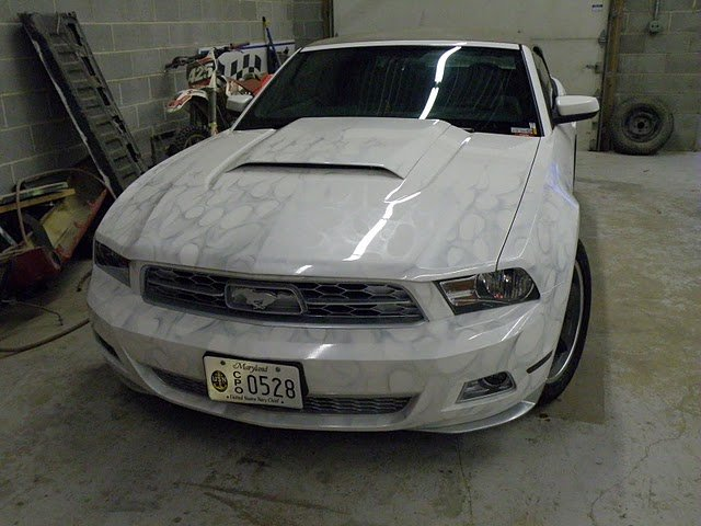 Pic Silver Flames On My 2010 Mustang Ford Mustang Forum