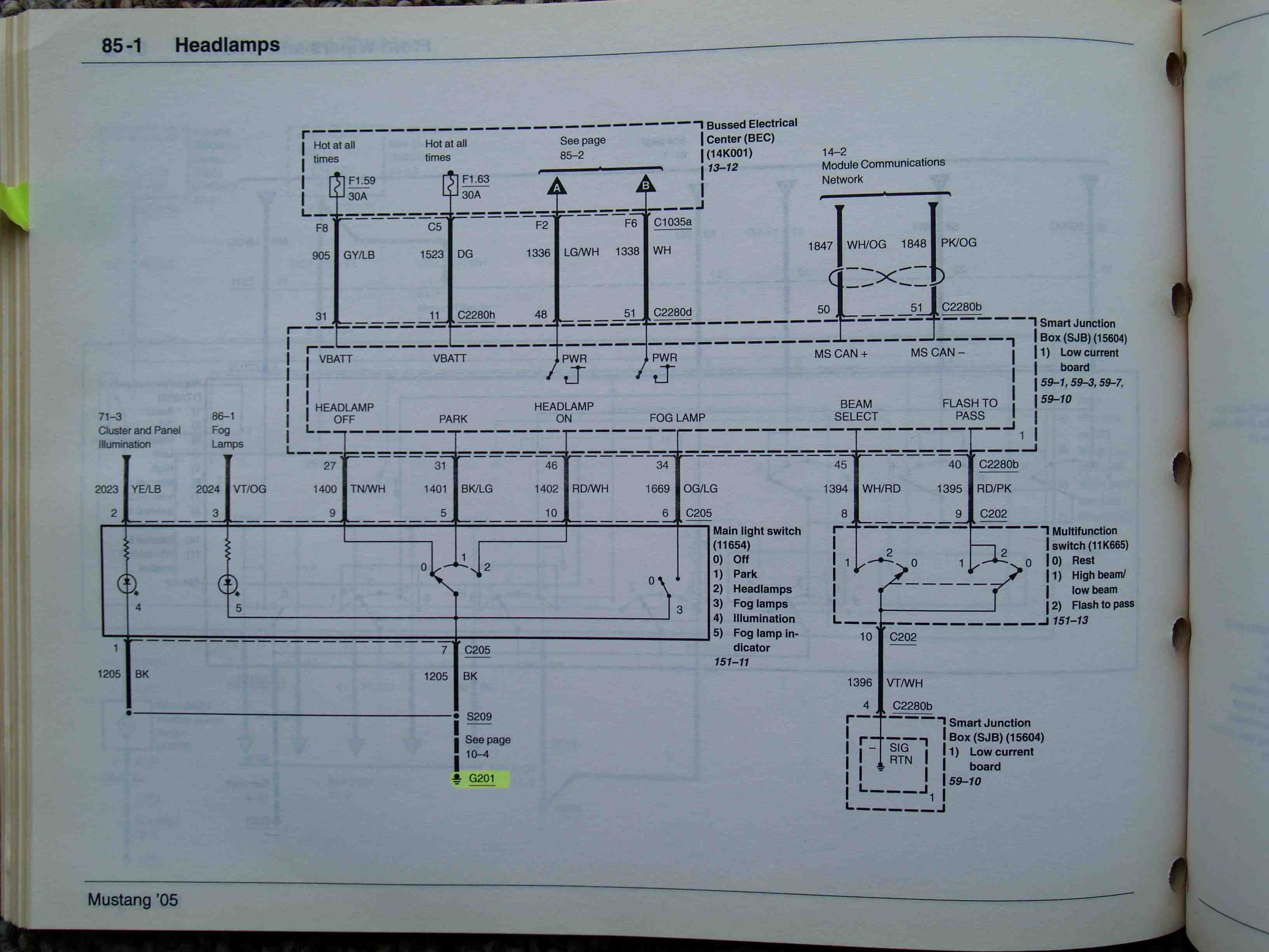 2008 Gt Headlight Wiring Diagram Ford Mustang Forum