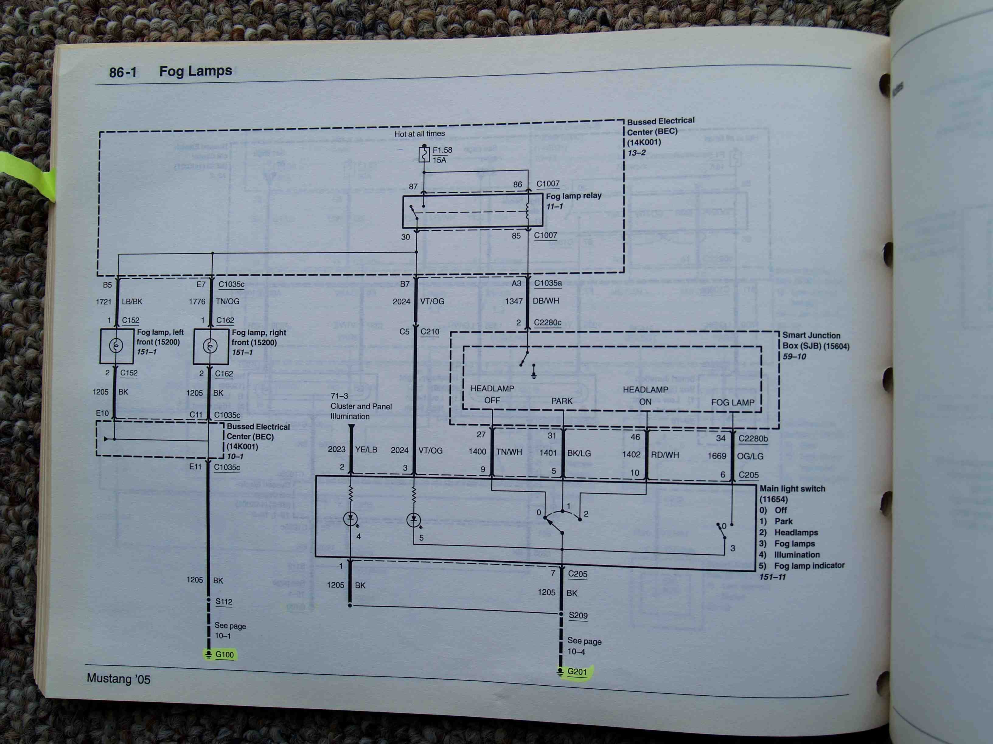 wiring diagram for 1969 ford mustang 2008 gt headlight wiring diagram? - ford mustang forum