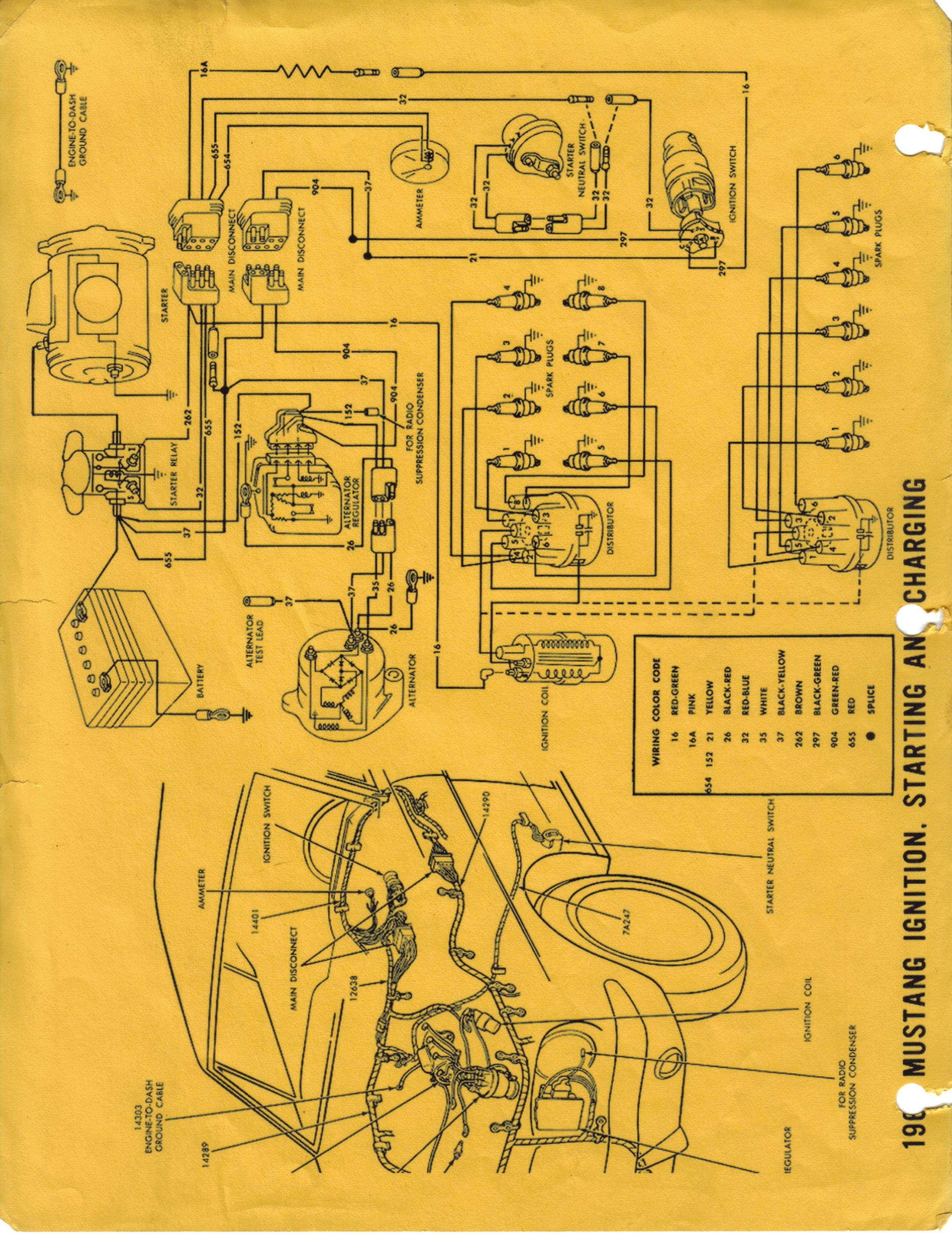 19641965 Wiring Diagram Manual Ford Mustang Forum