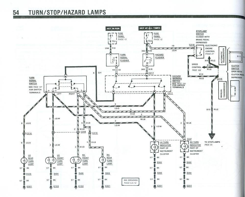 Fox turn signal wiring diagram - Ford Mustang Forum