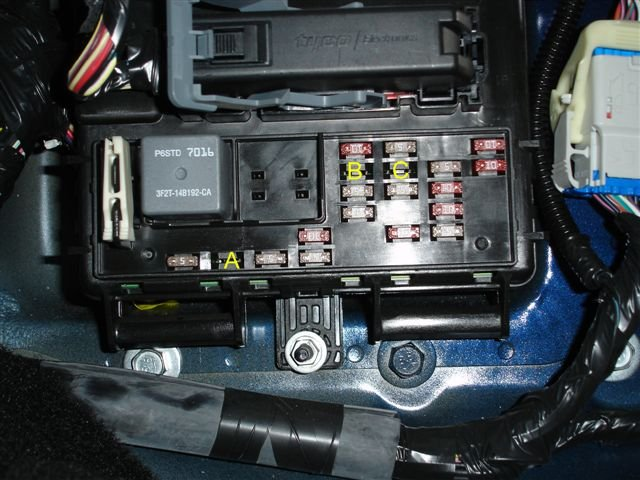 97 ford fuse box diagram  | 350 x 435