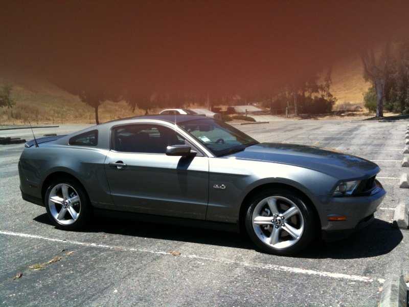 got my sterling gray 2011 mustang 5 0 today ford mustang forum. Black Bedroom Furniture Sets. Home Design Ideas