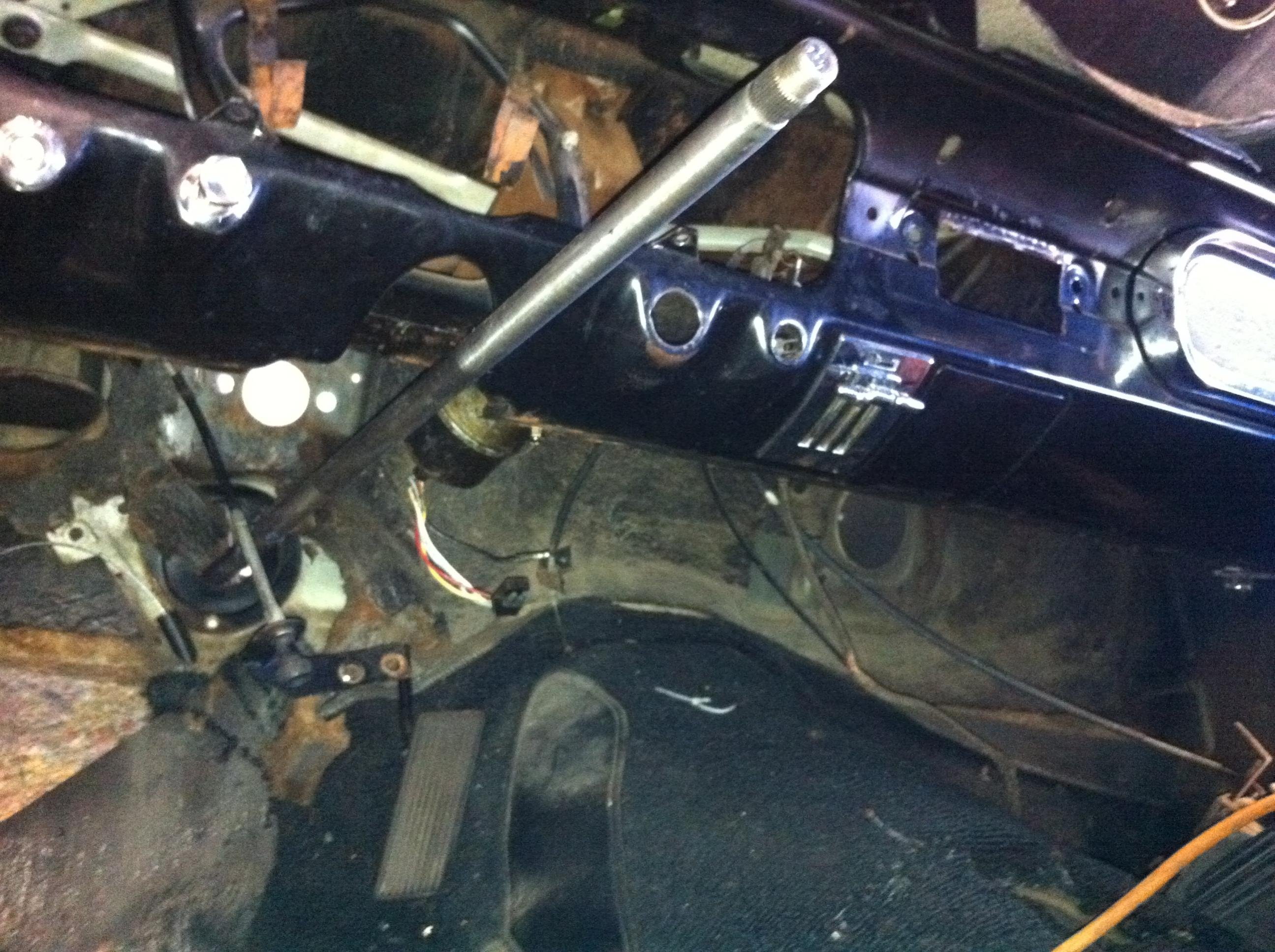 Removing 65    Mustang    Steering Column     Ford       Mustang    Forum