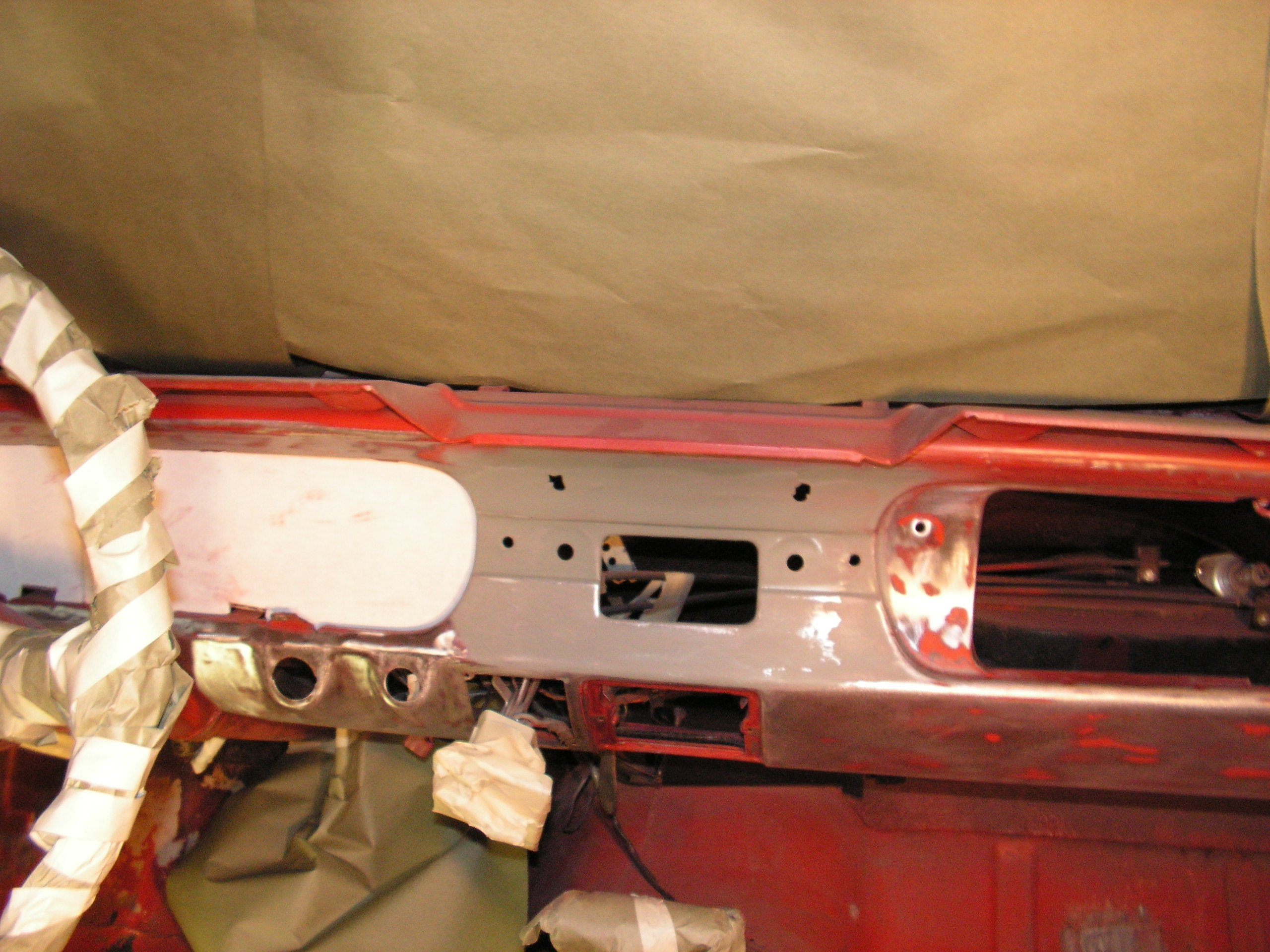 D Applying Interior Paint Mustang Pict