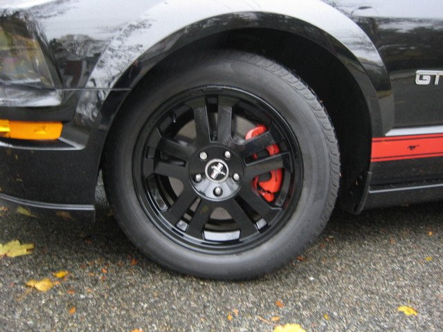 2007 Mustang Gt Painted My Factory Wheels Black Ford