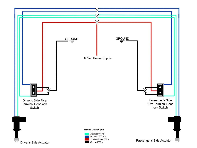 1964-1968 Power Door Lock Wiring Diagram   Ford Mustang Forum   Ford Lock Switch Wiring Diagram      All Ford Mustangs