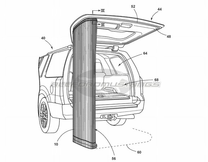 Ford Patents a Curtain for Your SUV's Liftgate