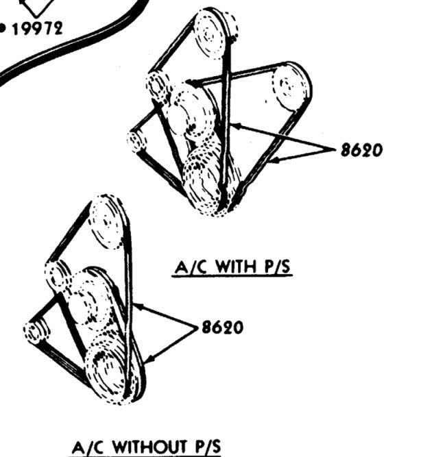 1967 Mustang 289 Alternator  Ps  Ac Belt Layout