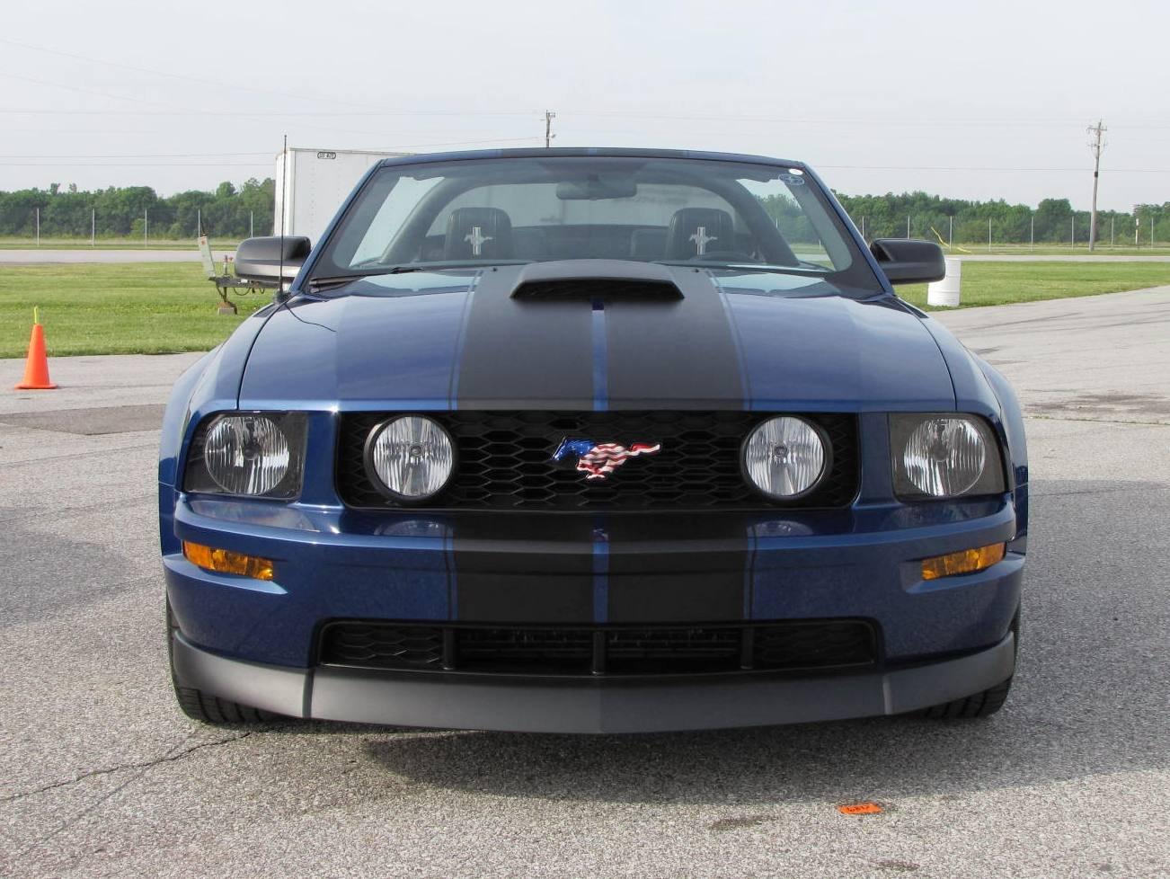 2007 Mustang vista blue with gloss black or matte black stripes