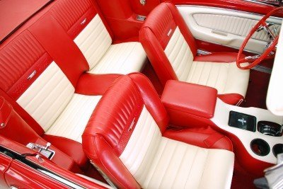 Pony Red And White 1965 Mustang Seats Ford Mustang Forum