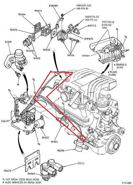 1993 Ford Mustang 5 0 Belt Routing Diagram Further Vacuum Solenoid