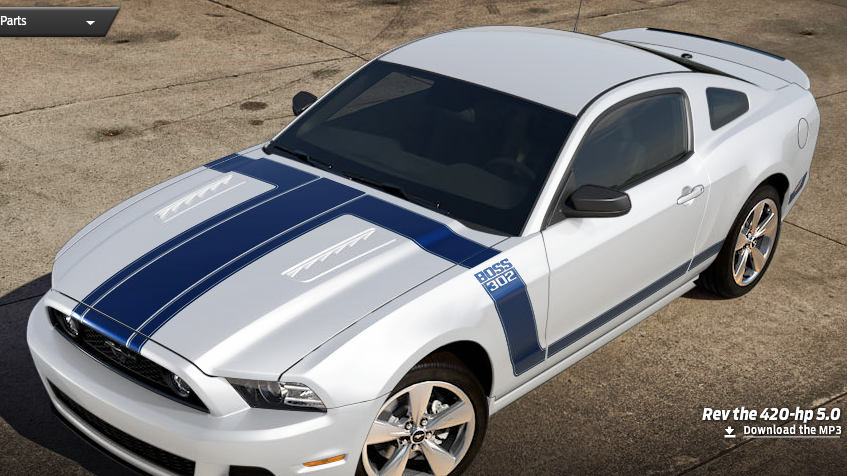 2013 Mustang Boss 302 Style Stripes