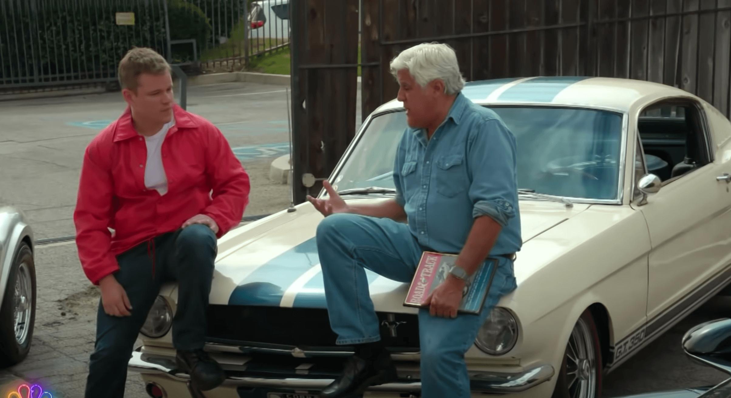 Watch: Jay Leno Talks to Matt Damon About Ford vs. Ferrari