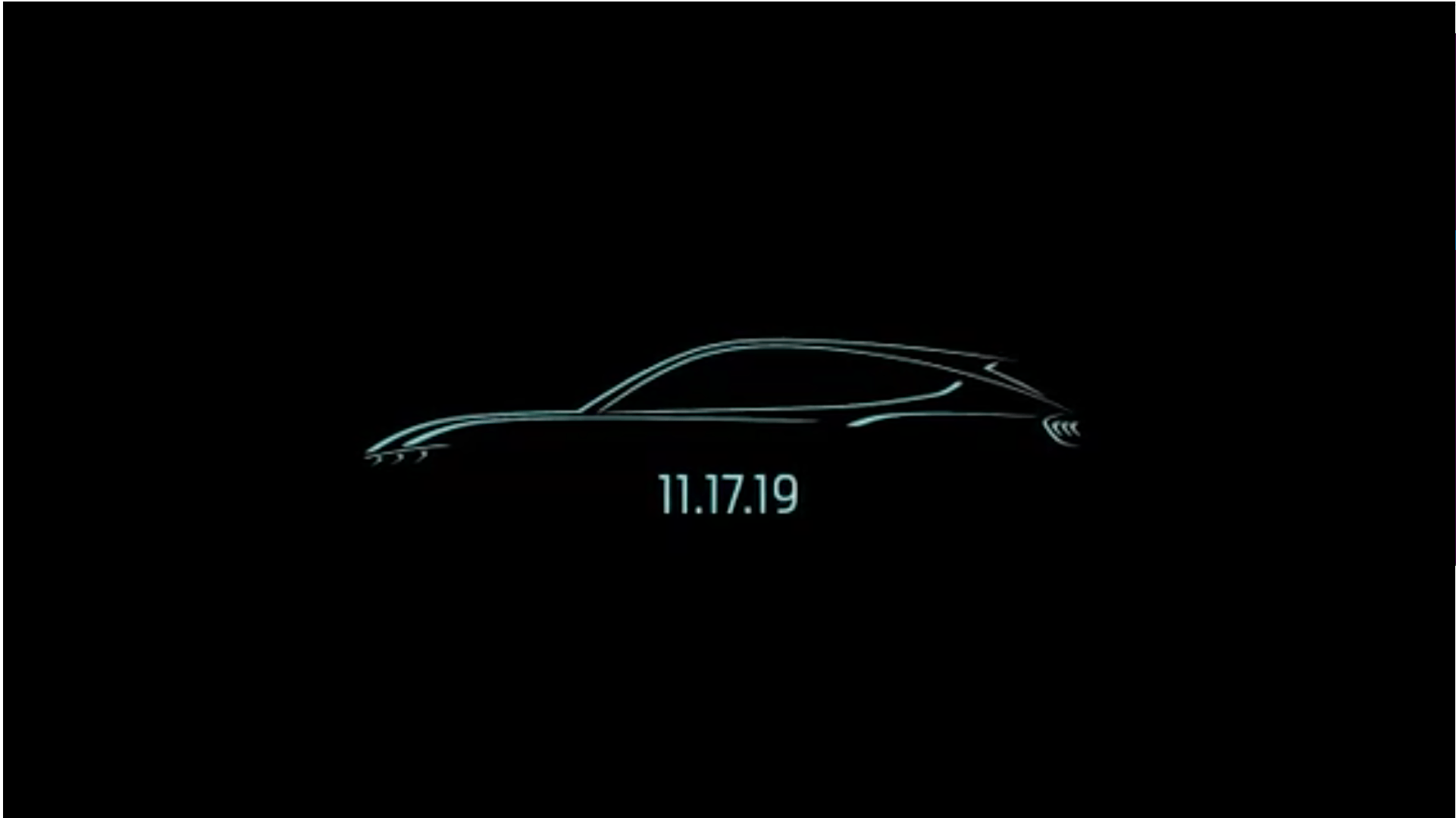 Ford Teases Electric Mustang-Inspired Crossover