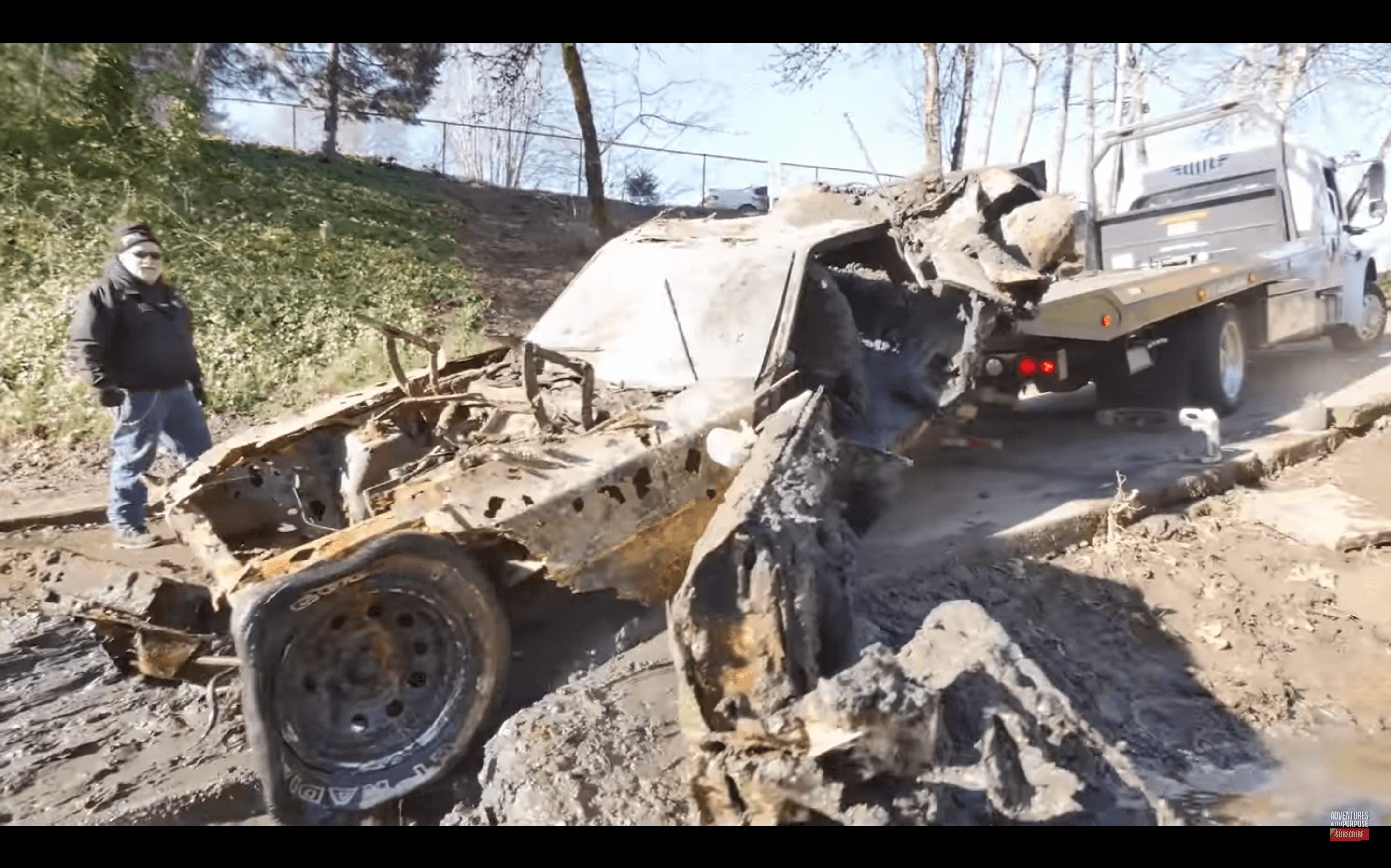 Watch: A 73 Mach 1 Get Pulled Out of an Oregon River