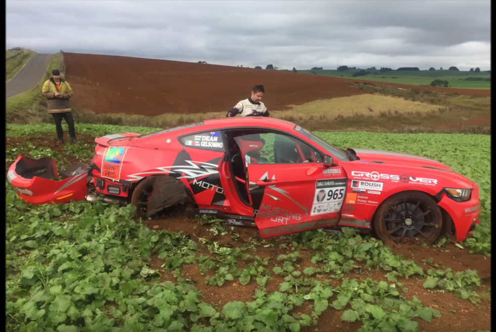 Ride Along as This Shelby Crashes Out of the 2016 Targa Tasmania
