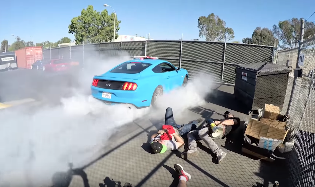 Mustang Cameos in Mannequin Challenge at the Donut Garage