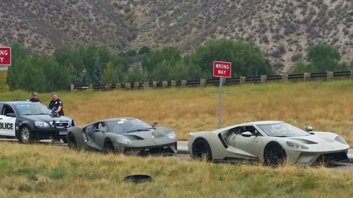Law Enforcement Officers In Colorado Came Down On A Pair Of Ford Gt Development Mules That Were Clocked At  Mph More Than Double The Speed Limit