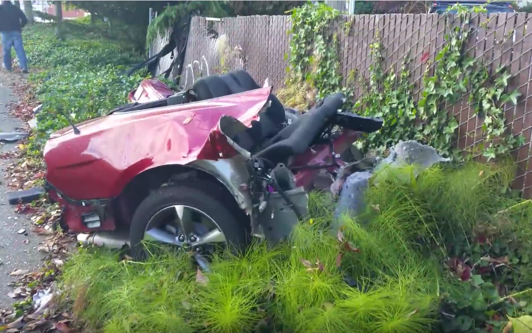 Video of That Mangled Mustang in Washington