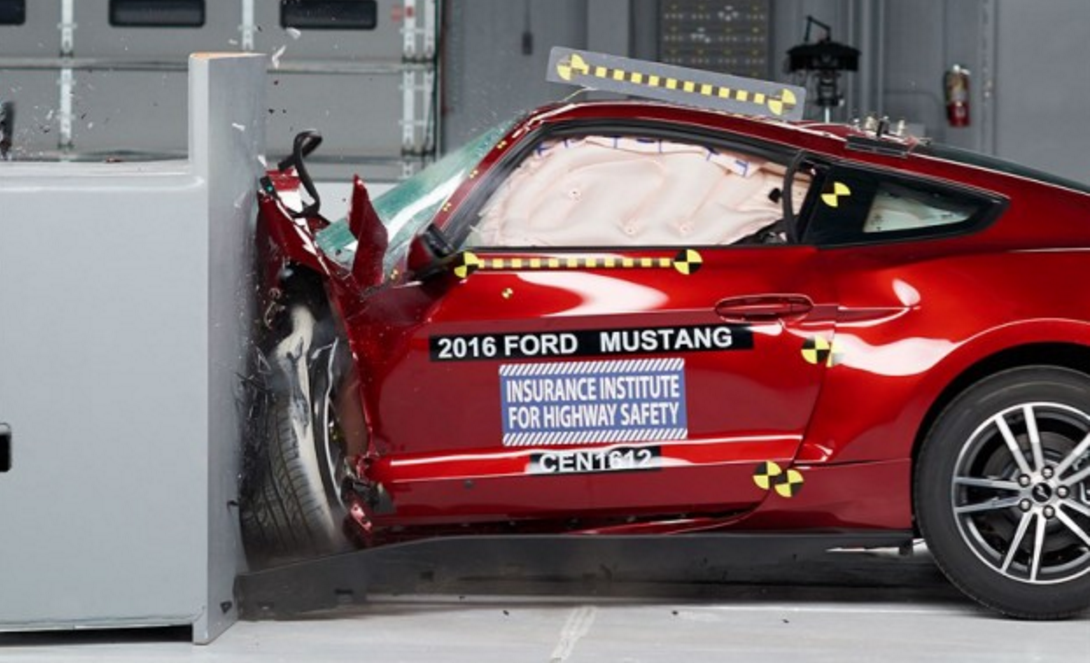 Mustang Gets Mauled in IIHS Safety Test