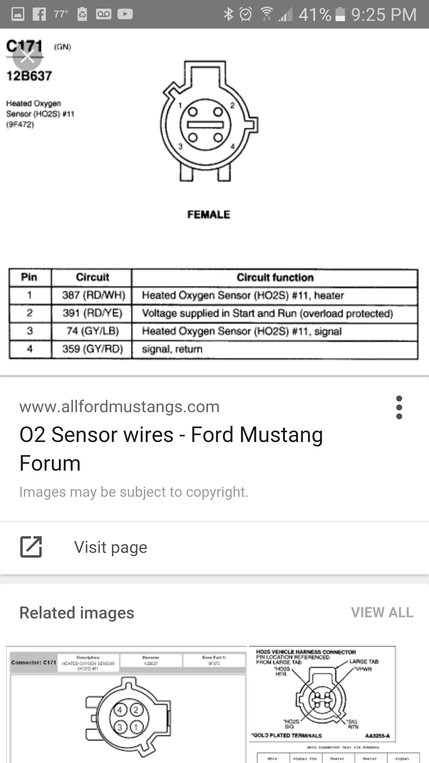 Universal O2 Wiring Diagram And Schematics Volkswagen Sensor Source Mustang V6 Harness Pinched Ford Forum Fan Clutch Image