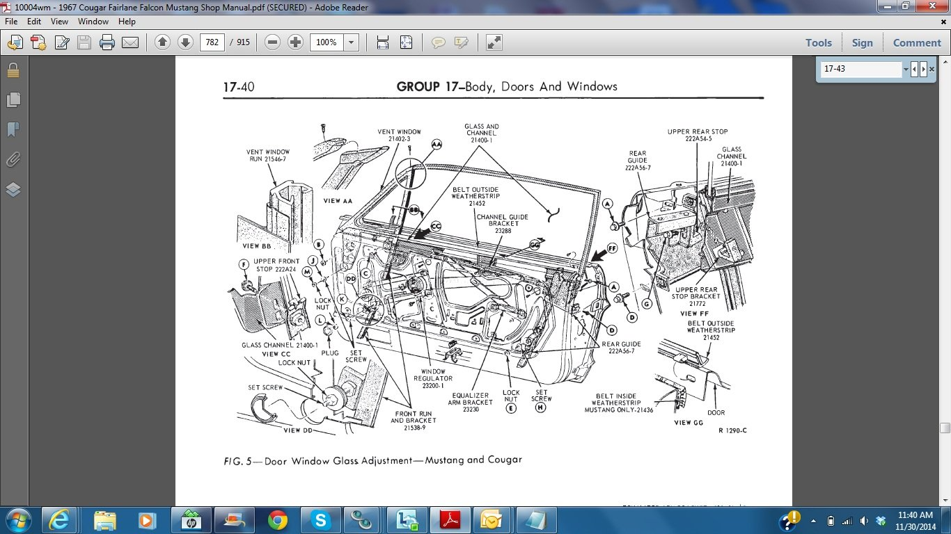 Ford       Mustang    Forum  View Single Post     1967    vert window adjustment  height