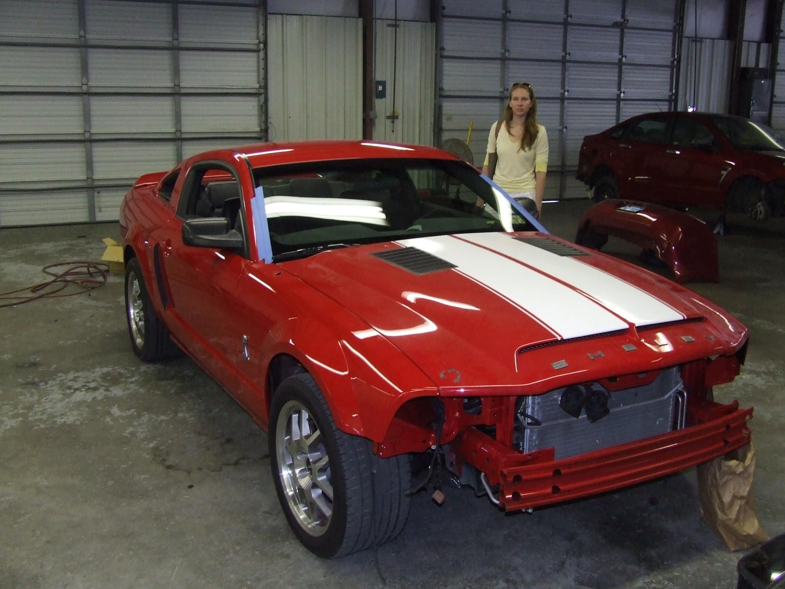 2008 mustang gt body shop has option to paint my racing. Black Bedroom Furniture Sets. Home Design Ideas