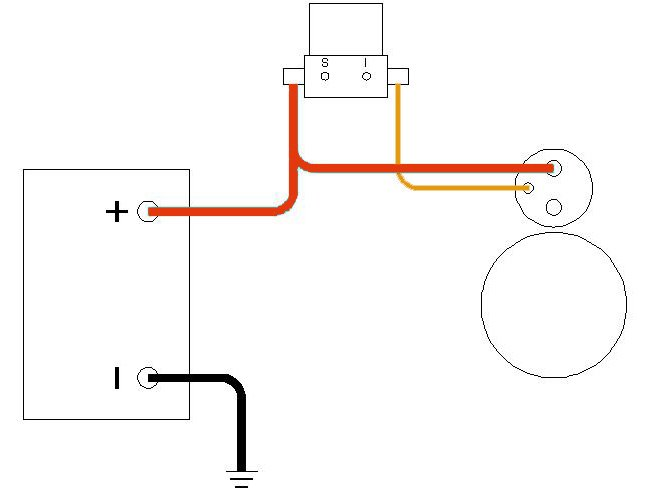 starter wiring with solenoid