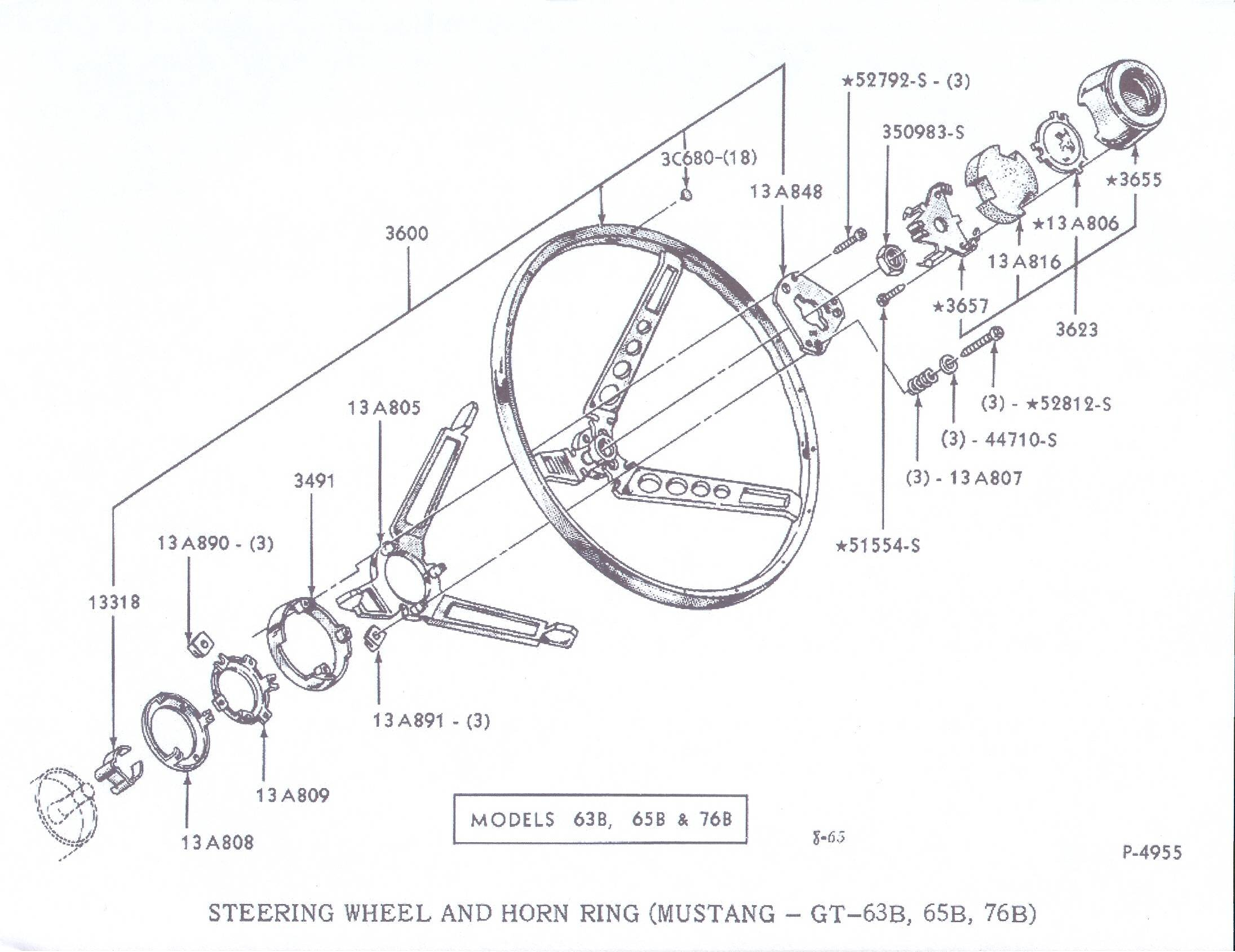 85491d1260574424 how install wooden steering wheel 1966 mustang steering wheel break down sheet 65 mustang column wiring diagram wiring library