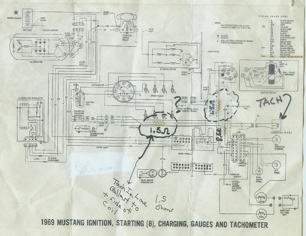 1968 mustang wiring diagrams with tach please help ford mustang forum rh allfordmustangs com Dixco Tach Wiring Diagram Sunpro Tach Wiring