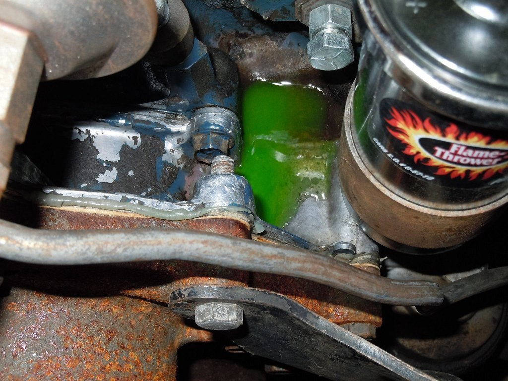 timing chain cover coolant leak  ford mustang forum