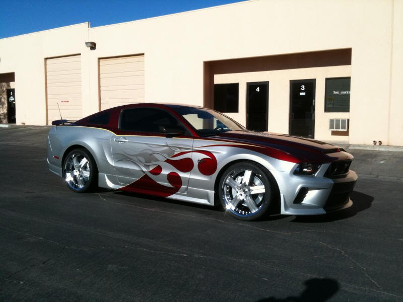 Not A Fan Of Flames Paint Job But Ford Mustang Forum