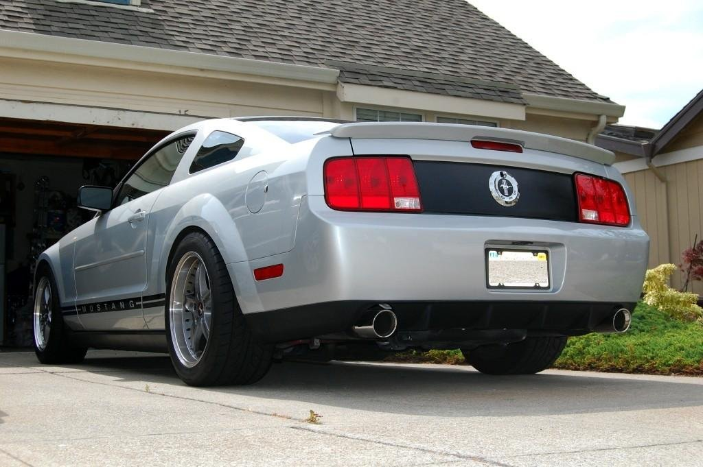 gt500 rear bumper on a mustang v6 ford mustang forum