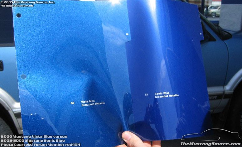 No More Sonic Blue Or Mineral Gray For 06 Page 2 Ford Mustang Forum