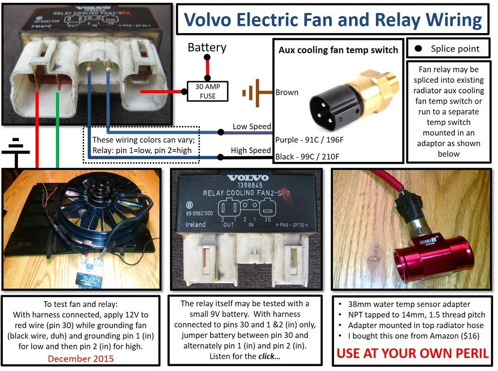 Radiator Fan Relay Wiring on audi s2, dual electric, diagram for electric,